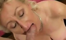 Mature Blonde Woman Sucks On A Cock