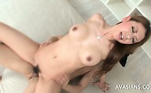 Hairy Asian Teen Takes It In The Ass Like A Pro