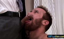 Hunk sucking on delicious cock