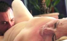 Horny Granny Gets Pussy Eaten