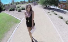 Blondie Alexis Adams gets spotted in the park and fucked