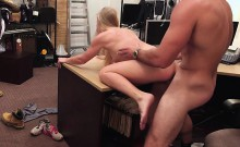 Hot blonde country woman trying to sell her broken car